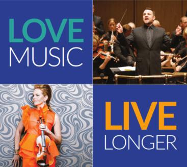 Love music event graphic.